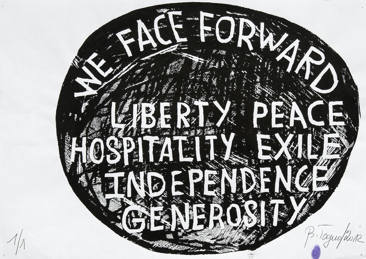 Barthélémy Toguo, We face forward..., 2012