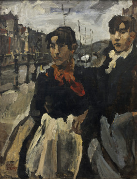 Isaac Israels, Two Maids on the Lijnbaansgracht in Amsterdam, 1894, oil on canvas, 101 x 75 cm, Groninger Museum