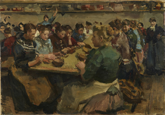Isaac Israels, The Coffee Sorters, c. 1893, oil on canvas, 60 x 86 cm, Kunstmuseum Den Haag.