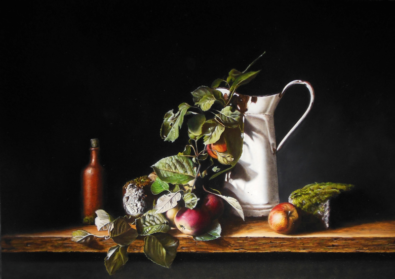 Jan Teunissen – 'Still life with apples and white can'