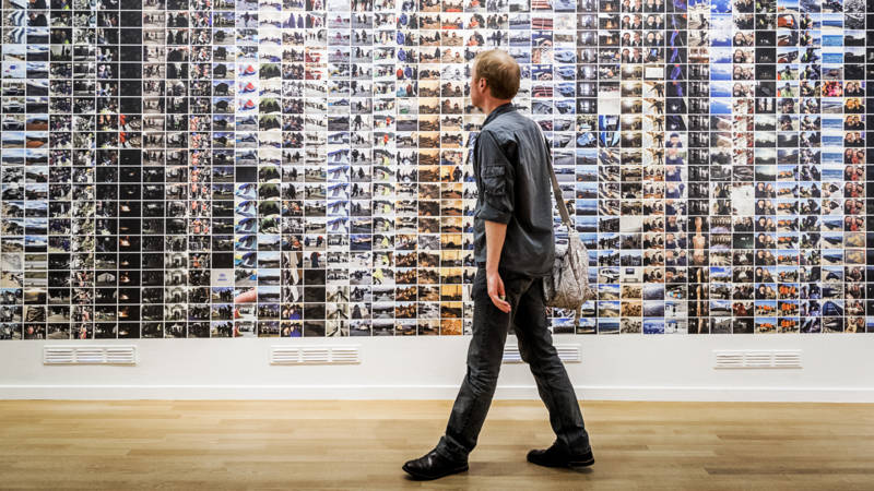 The thousands of photos by Ai Weiwei at the exhibition #SafePassage. Photo: ANP