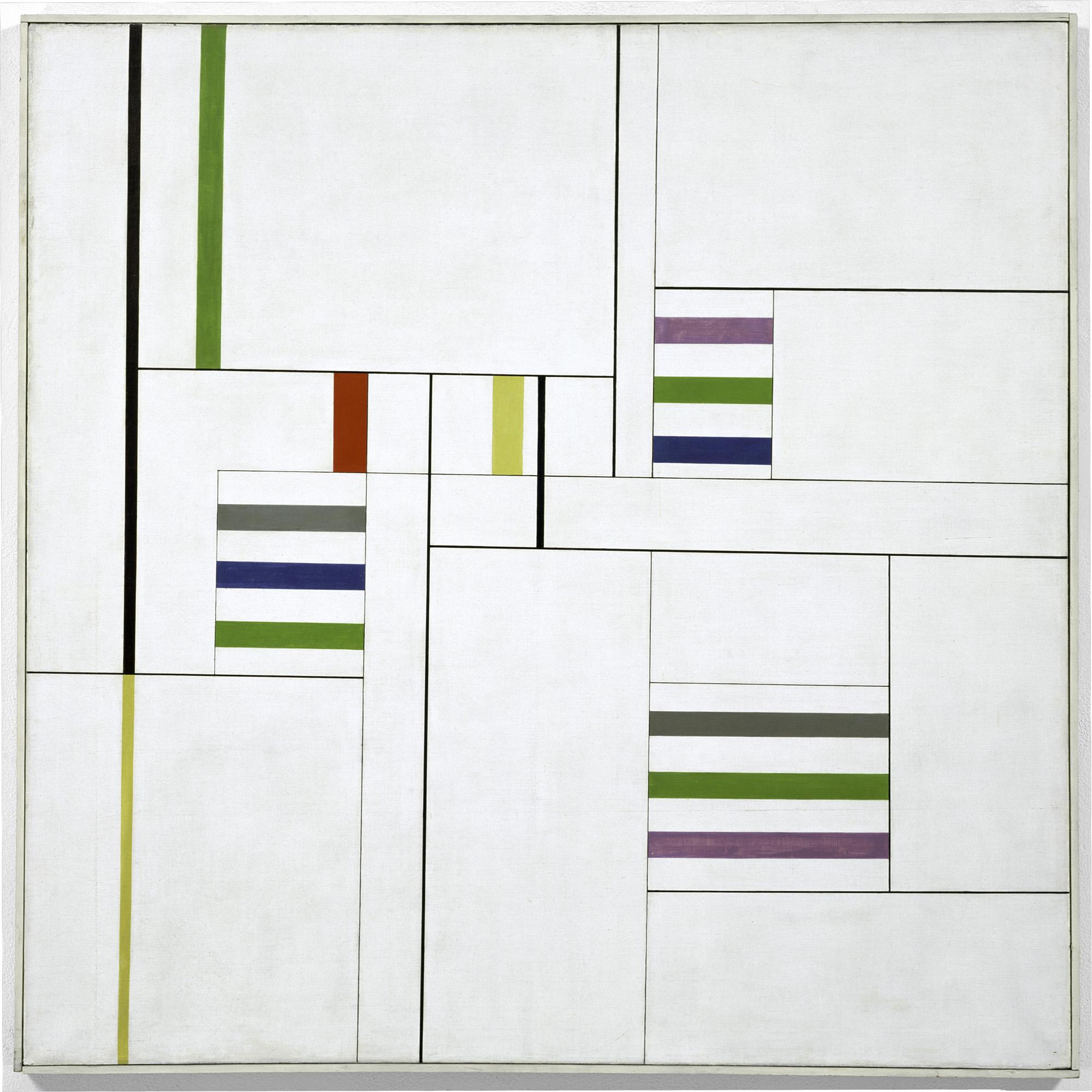 Alfredo Hlito (Argentine, 1923–1993). Ritmos cromáticos III (Chromatic Rhythms III), 1949. Oil on canvas, 39 3/8 × 39 3/8″ (100 × 100 cm). The Museum of Modern Art, New York