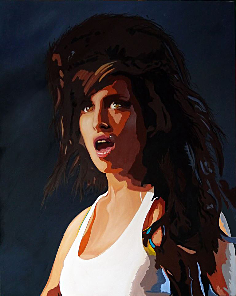 Portret of Amy Winehouse Cornell van Loon | €2.500,-