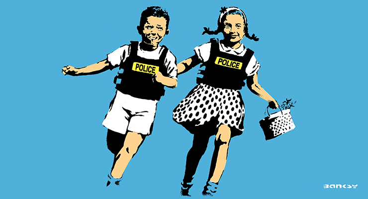 BANKSY - ROME - Jack and Jill - Blue
