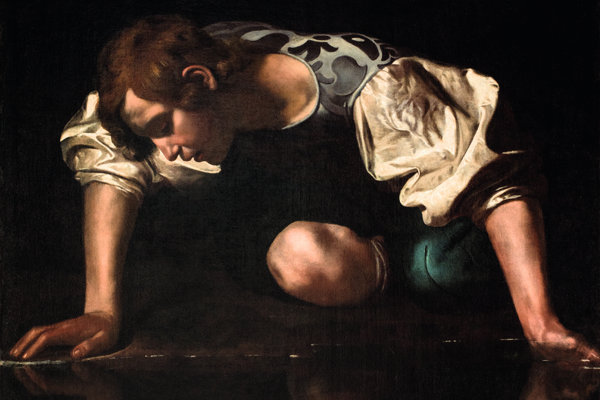 """Caravaggio, """"Narcissus"""", Palazzo Barberini"""
