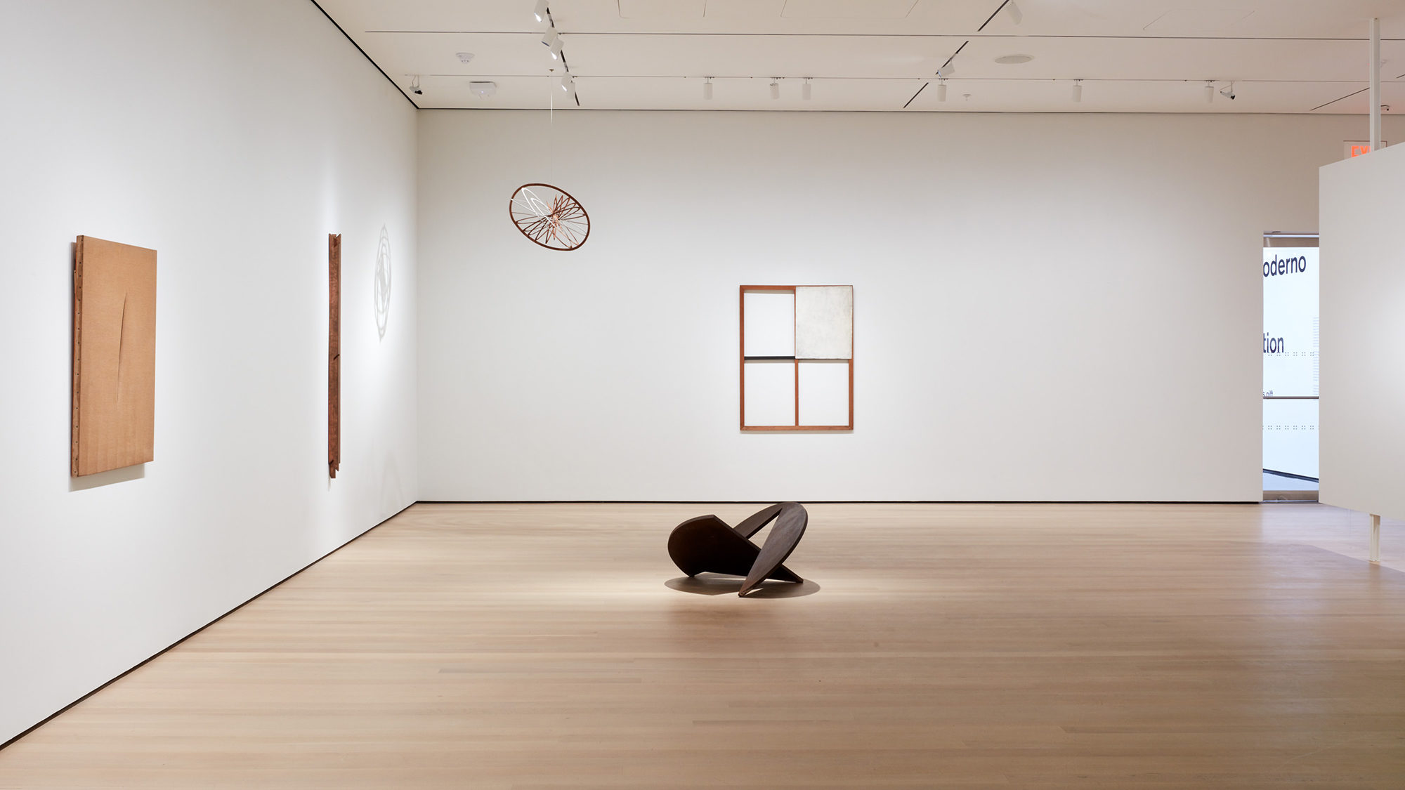 Installation view of Sur moderno: Journeys of Abstraction―The Patricia Phelps de Cisneros Gift, The Museum of Modern Art, New York, October 21, 2019 – March 14, 2020. © 2019 The Museum of Modern Art. Photo: Heidi Bohnenkamp