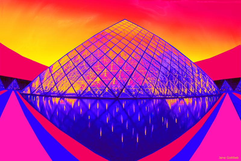 Jane Gottlieb – 'Paris Pyramid at Dusk'