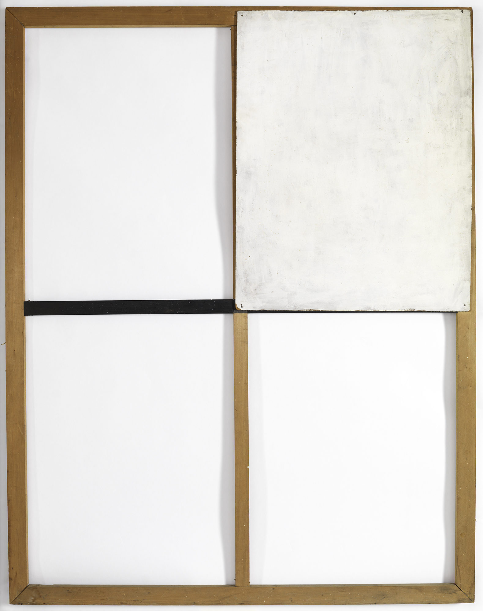 Mira Schendel (Brazilian, born Switzerland. 1919–1988) Untitled. 1964. Oil and tempera on composition board and wood, 57 7/8 × 44 7/8 × 13/16″ (147 × 114 × 2 cm). The Museum of Modern Art, New York.