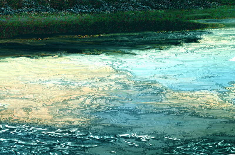 Tony Walling – 'Impression of moving water & reflection'