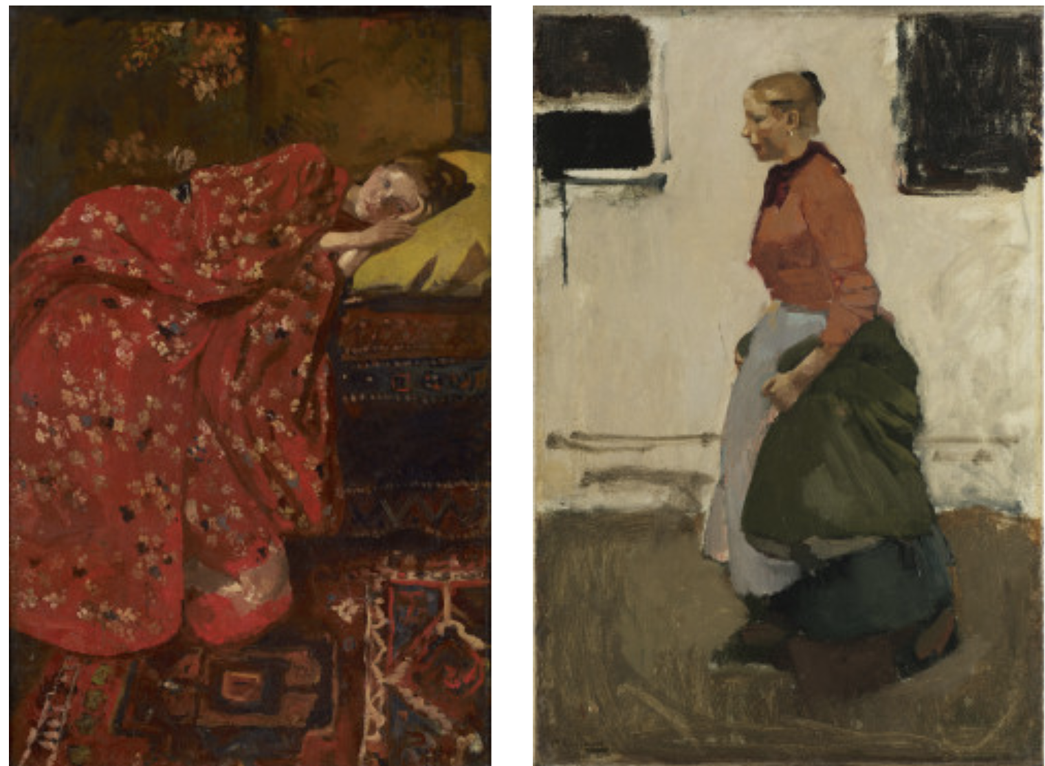 Girl in a red kimono and George Hendrik Breitner, Factory girl