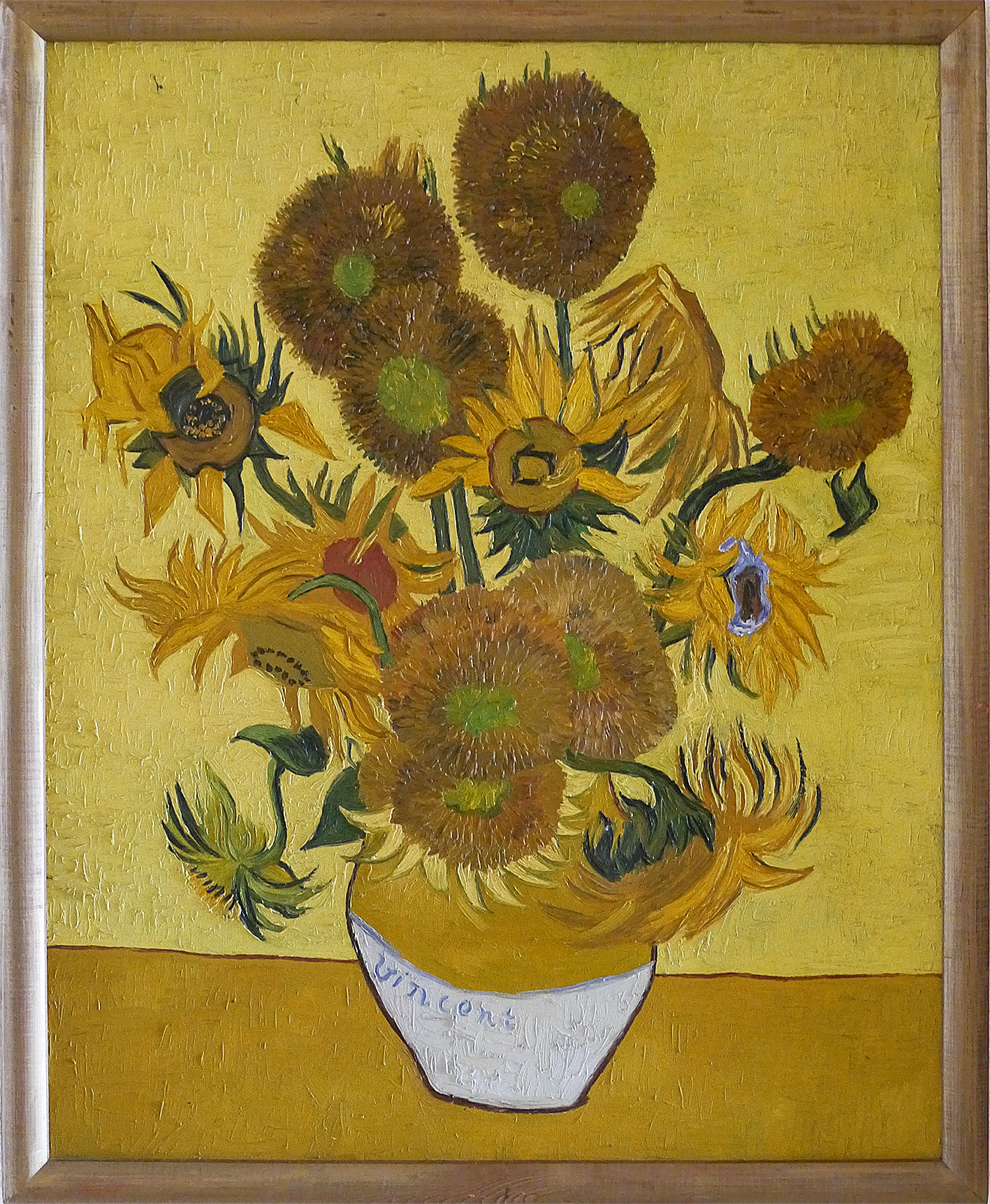 The best hand-painted copy of Vincent van Gogh's Sunflowers ever made Cornell van Loon