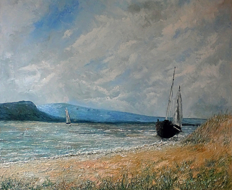 Cornell van Loon – 'Seascape with sailing boats'